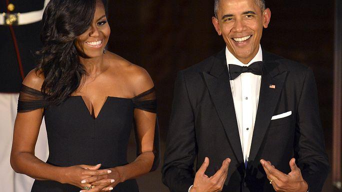 Michelle und Barack Obama unterschreiben 60-Millionen-Euro-Deal