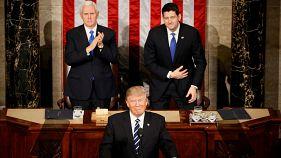 Trump ofrece un mesurado tono en su primer discurso en el Capitolio
