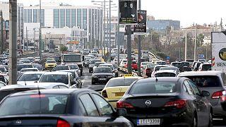Atene, sciopero dei trasporti pubblici, ingorghi