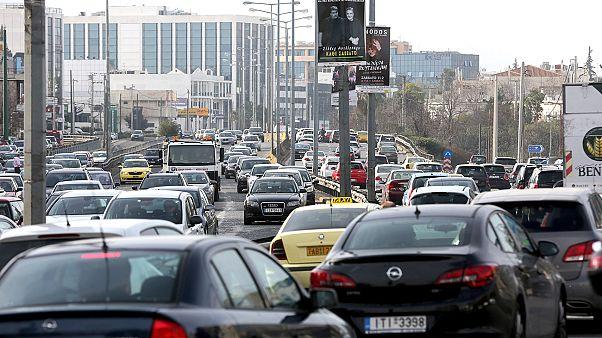 ترافیک سنگین در پی اعتصاب کارکنان حمل و نقل در آتن