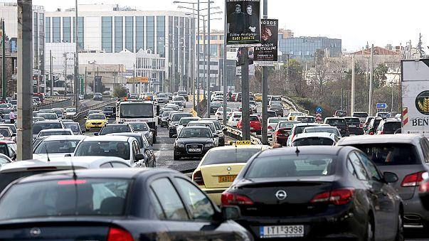 Atina'da raylı sistem çalışanları greve gitti