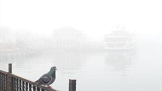 Istanbul shrouded in heavy fog