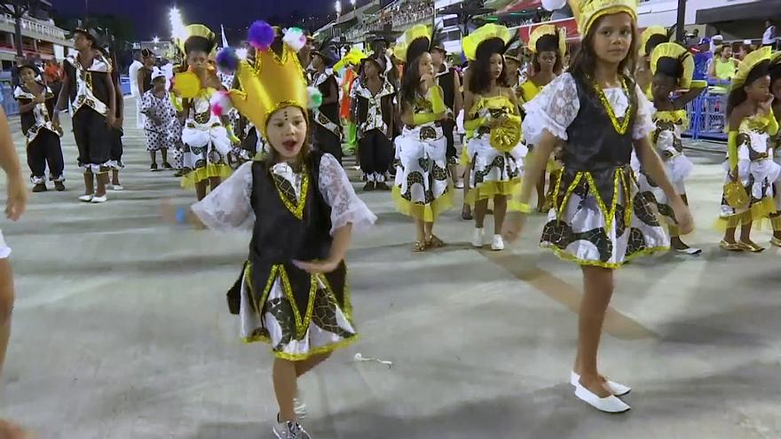 Los más pequeños también se lucen en el Carnaval de Río
