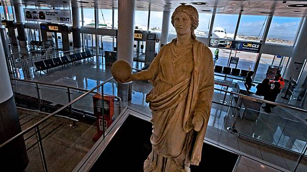 Naples airport archeological museum is a world's first