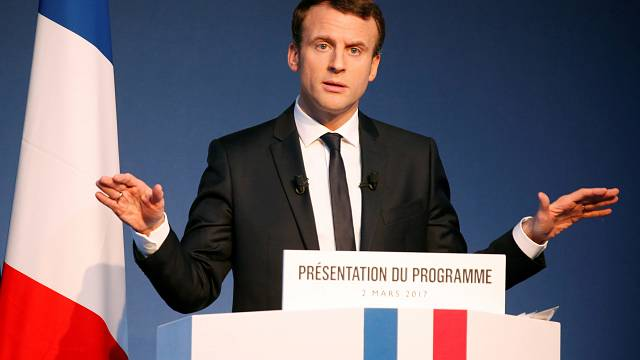 French election: Macron uses manifesto launch to attack rivals