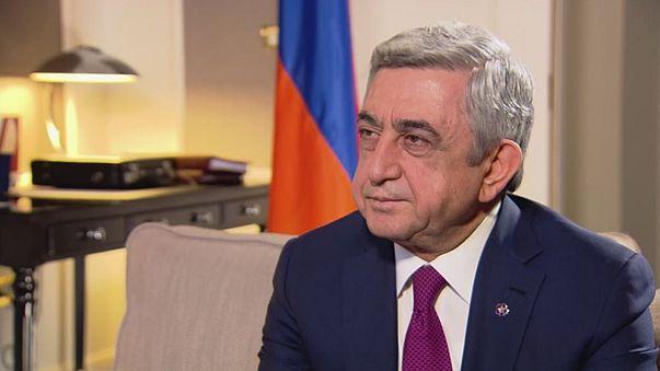 Ο Πρόεδρος της Αρμενίας στο euronews