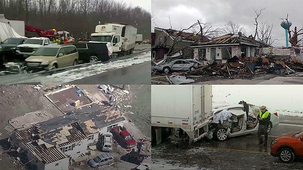 Série de tornados deixa rasto de morte e destruição nos EUA