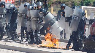 Honduras öldürülen çevreciyi andı