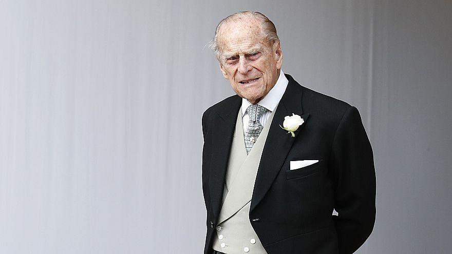 Image: Prince Philip, Duke of Edinburgh, at St. George's Chapel on October