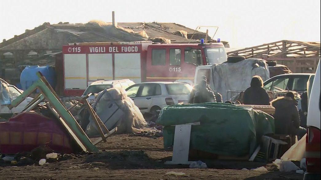 """Itália: Incêndio no """"Grande Gueto"""" mata dois refugiados do Mali"""