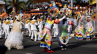 Angolans celebrate the national annual carnival [no comment]