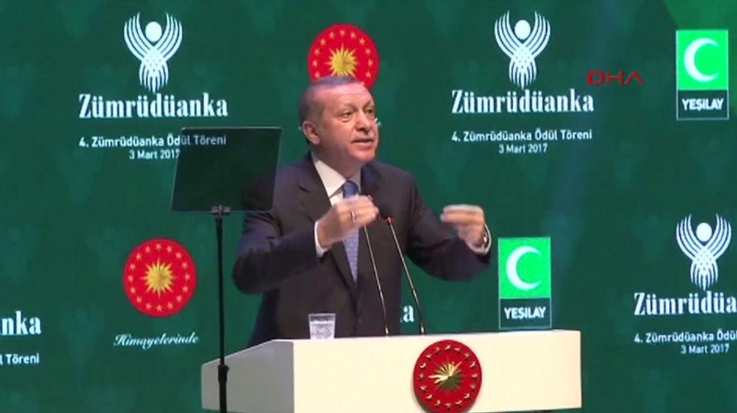 Cumhurbaşkanı Erdoğan Almanya'yı teröre destek vermekle suçladı