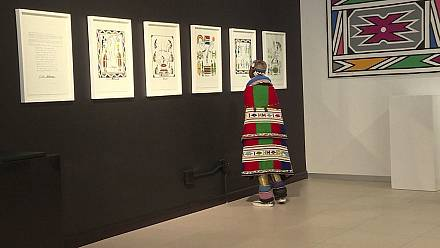 Nelson Mandela's paintings exhibited [no comment]
