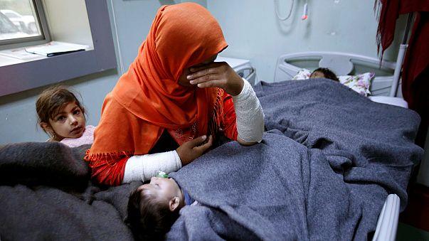 Iraque: Família de Mossul recebe tratamento por exposição a armas químicas
