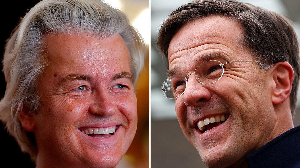Législatives aux Pays-Bas : Rutte et Wilders toujours au coude à coude