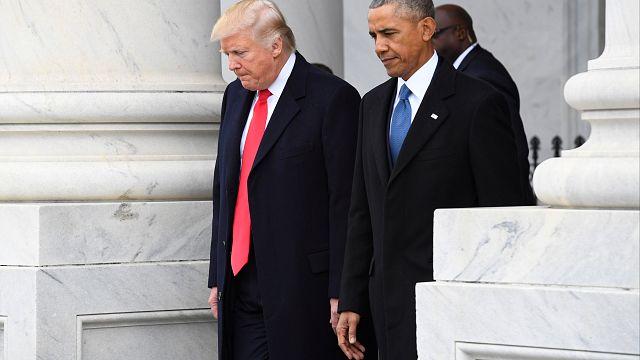 """Obama rechaza las acusaciones de Trump de haberle """"pinchado"""" el teléfono"""