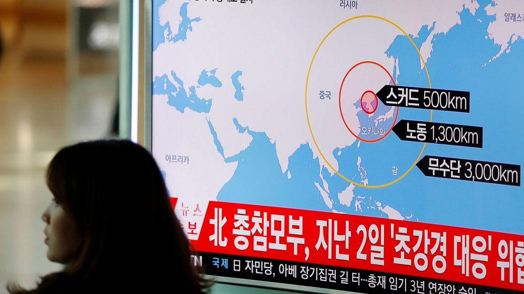 Coreia do Norte realiza novo teste de mísseis