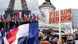 """Paris dividida entre o """"não"""" há corrupção e o """"sim"""" a Fillon"""