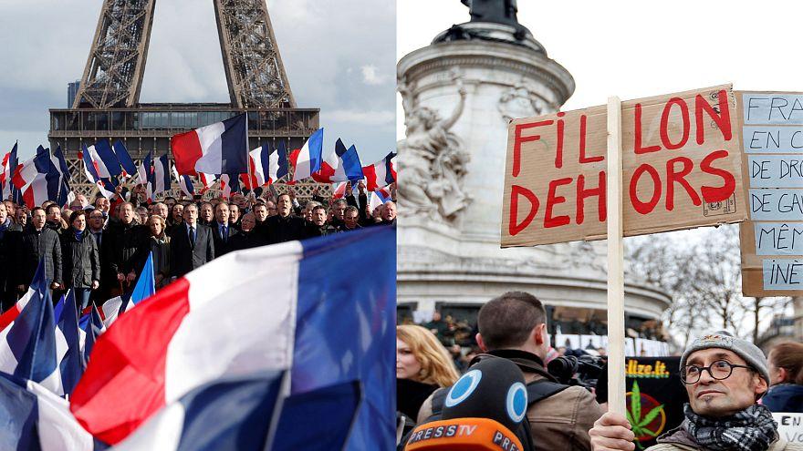الرئاسيات الفرنسية على وقع مظاهرات مناهضة للفساد و أخرى داعمة للمرشحين