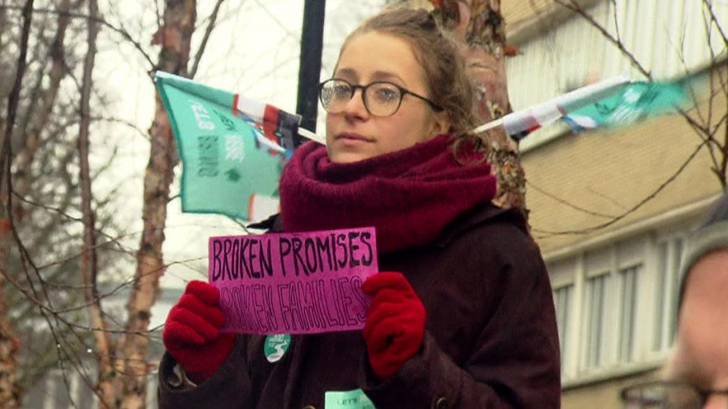 Protest held in support of refugees
