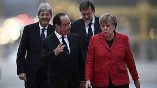 Los líderes de Alemania, Francia, España e Italia apuestan por una Europa a varias velocidades