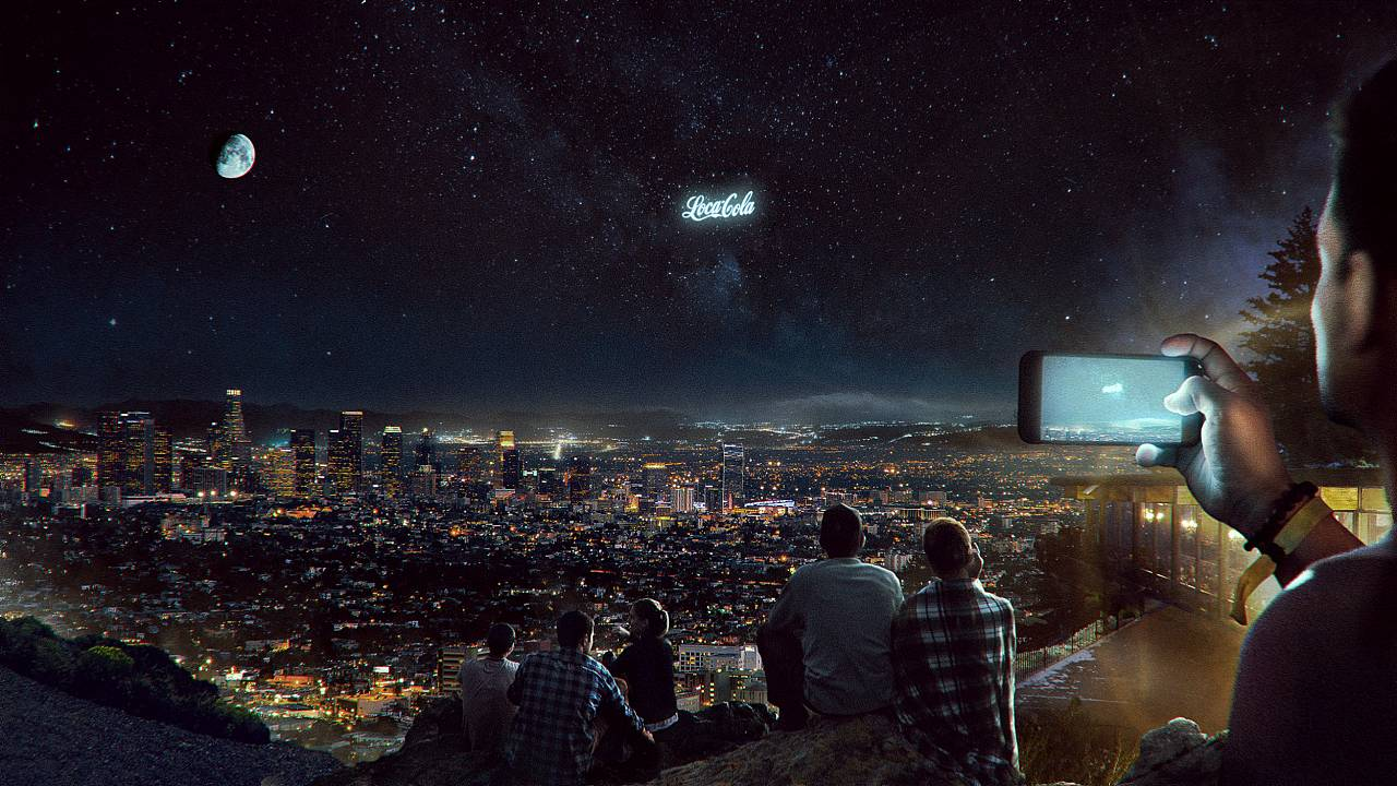 Image: A Russian startup, StartRocket, plans massive billboards to beam adv