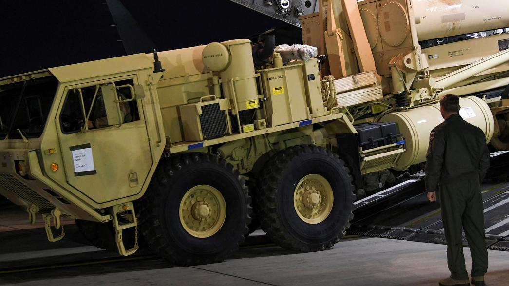 US begins rolling out missile defence system in South Korea