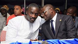 Akon lights up Gambian village