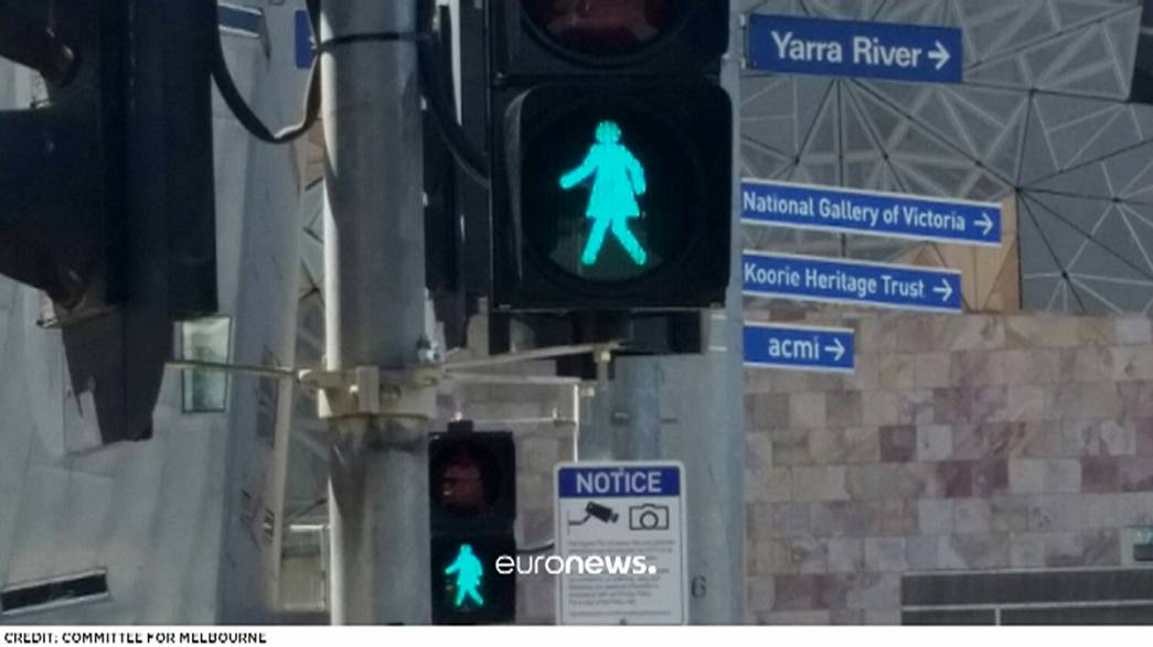 Melbourne gives the green light to 'gender equal' traffic signals