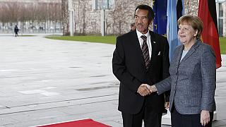Botswana president Ian Khama meets German Chancellor Merkel ahead of international tourism fair