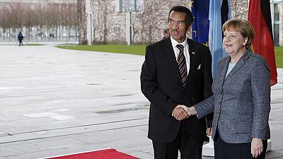 Botswana president Ian Khama meets German Chancellor Merkel ahead of international tourism fair