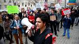 Protest against revised travel ban in US