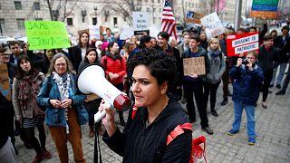 Az amerikai beutazási törvény ellen tüntettek Washingtonban