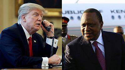 La conversation téléphonique de Donald Trump et d'Uhuru Kenyatta