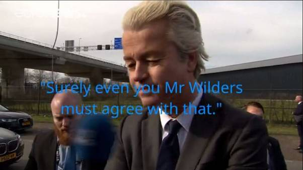 Euronews' James Franey asked Geert Wilders for his favourite part of the Koran