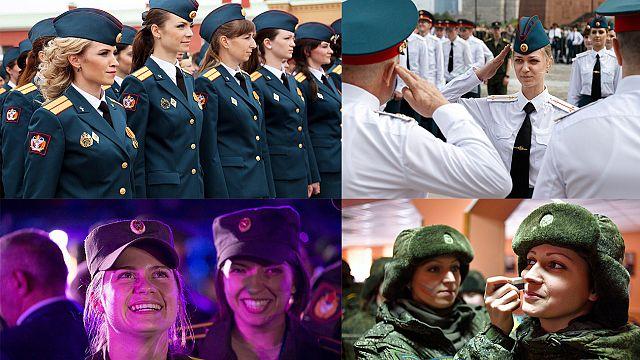 Russland: Schönheitswettbewerb für Soldatinnen zum Frauentag