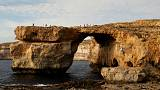 "Malta's ""Azure Window"" rock formation collapses into the sea"