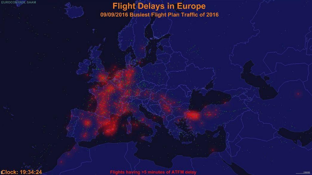 Europa: un millón de vuelos sufrieron retrasos en 2016. ¿Qué se puede hacer?
