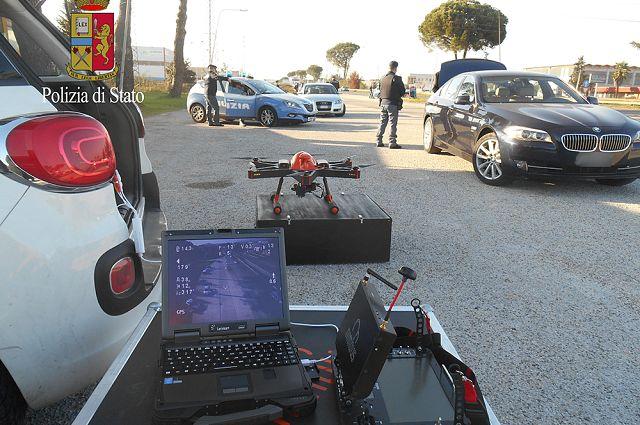 Frosinone, la prima volta dei droni per la sicurezza