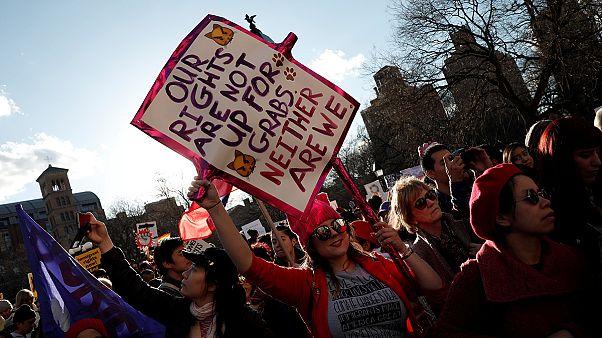 Usa, protesta delle donne contro le politiche di Trump