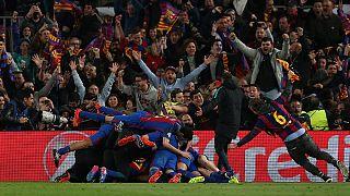 Champions League: Aubameyang führt BVB ins Viertelfinale - 6:1 Fußball-Wunder in Barcelona
