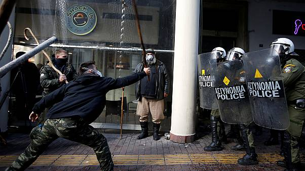 Farmers protest turned into heavy clashes in Athens