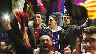 Ezrek ünnepelték a Barca győzelmét az utcán