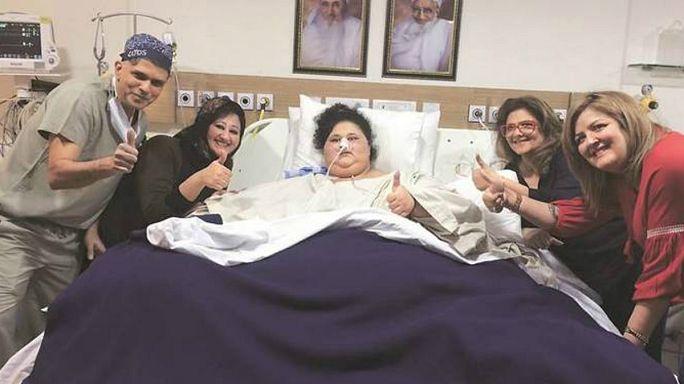 """أسمن إمرأة في العالم المصرية """"إيمان عبد العاطي"""" تبدأ رحلة علاجها في الهند"""