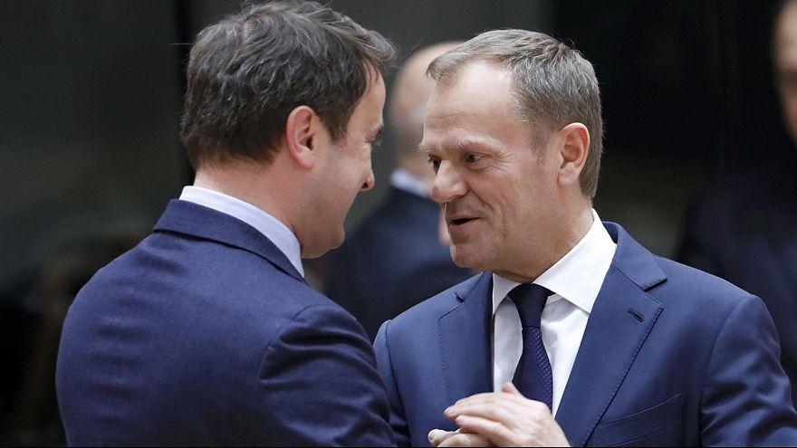 Merkel bekräftigt vor EU-Gipfel Unterstützung für Tusk