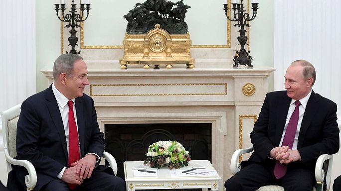 Netanyahu dice a Putin que no tolerará la permanencia de Irán en Siria