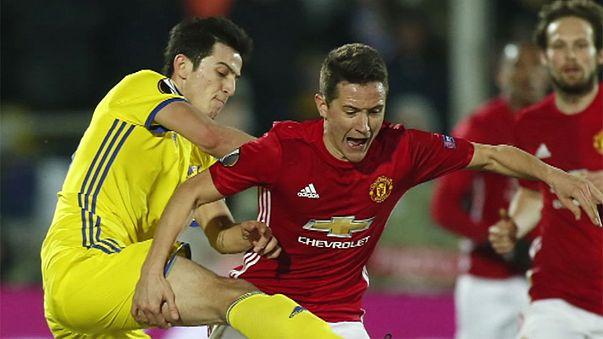 El Manchester United no pasa del empate en Rostov