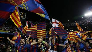 Celebration highlights after Barcelona's historic win