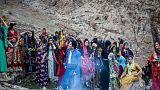 مراسم استقبال از نوروز در روستای پالنگان