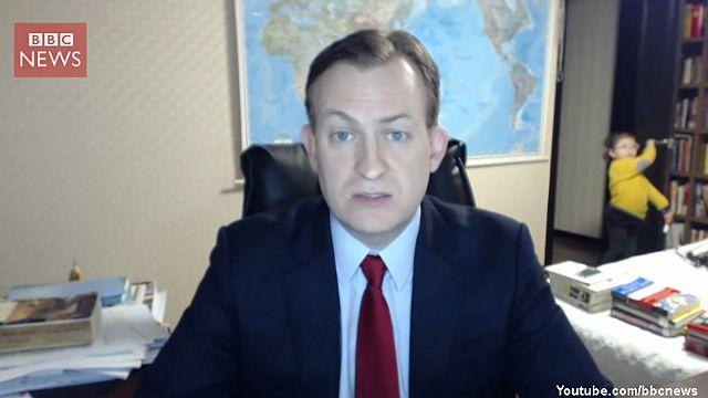 Kids interrupt BBC news interview and make the internet LOL